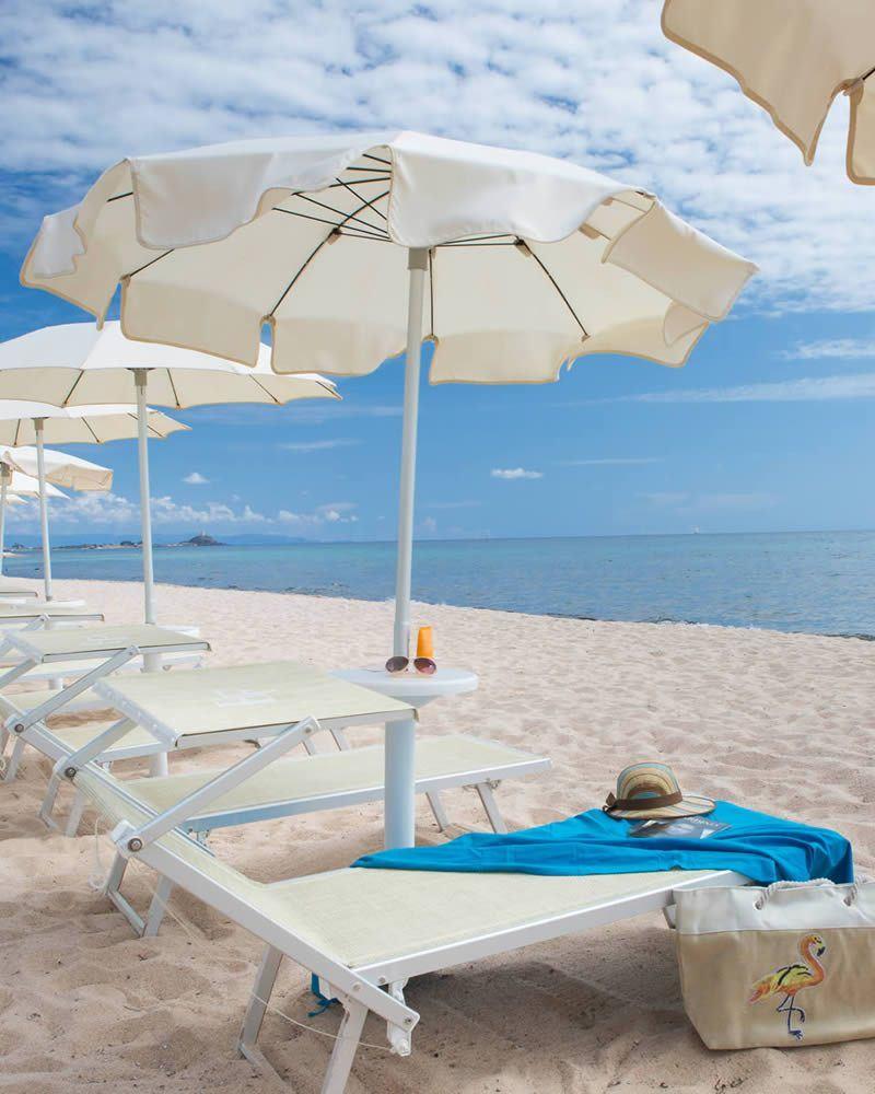 частном пляже Hotel Flamingo